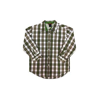 Camisa GAP Infantil Verde Xadrez