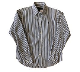 Camisa Listrada Azul e Branco Ralph Lauren