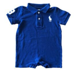 Macacão Curto Azul Marinho Ralph Lauren