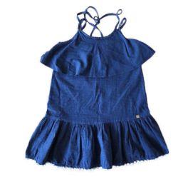 Vestido Azul Marinho e Branco 1+1