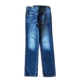 Calça Jeans Escura com desgaste em coxa Abercrombie & Fitch