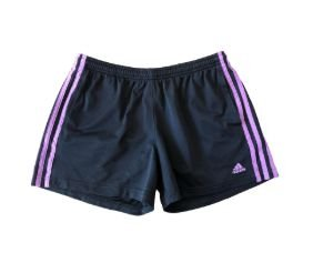 Shorts Preto e Roxo Adidas