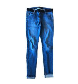 Calça Animale Feminina Jeans Skinny com Cintura em Preto