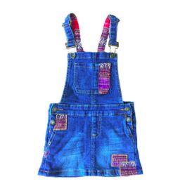 Jardineira Jeans com Apliques de Tecido Luck Brand