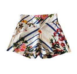 Shorts Branco Florido Soltinho Luigi Bertolli