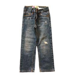 Calça Jeans Escura com Rasgado na Perna Levis
