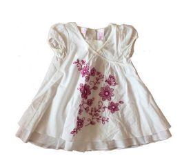 Vestido Branca com Flores Bordadas Macy's