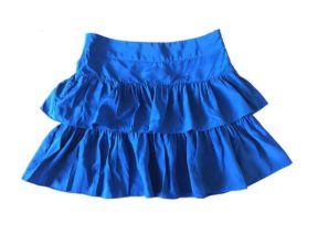 Saia Curta Babados Azul