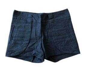 Shorts de Linho Preto Ateen