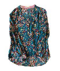 Camisa Azul Petróleo com Flores Maria Filó para C&A
