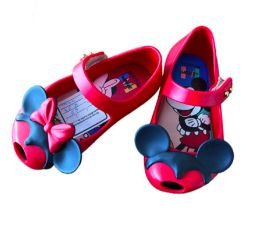 Sapatilha Vermelha Mickey e Minnie Melissinha