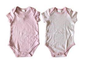 Conj. 2 Bodies (1 rosa e outro Listrado) Baby Club