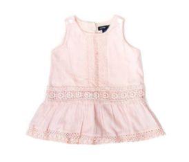 Vestido Rosê com Crochê Baby Gap