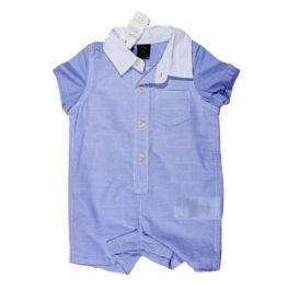 Macacão Azul Xadrez Baby Gap