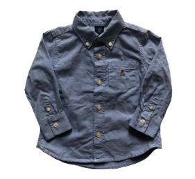 Camisa Manga Longa Azul Baby Gap