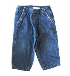 Calça Jeans Com detalhe Xadrez no Bolso Baby Sol