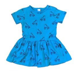Vestido Azul Patins  BB Básico