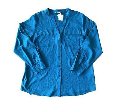 Camisa Verde Petróleo Calvin Klein