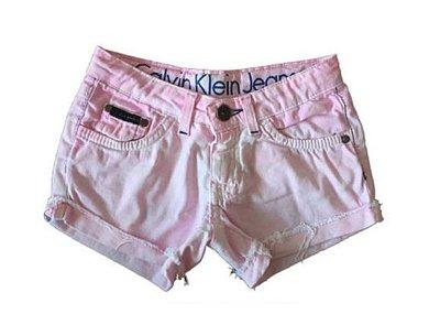 Shorts Jeans Rosa Manchado de Azul Calvin Klein