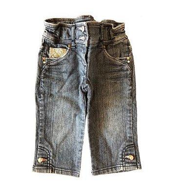 Calça Jeans com Apliques Chicco