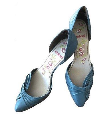 Sapato Azul Salto Fino Colcci
