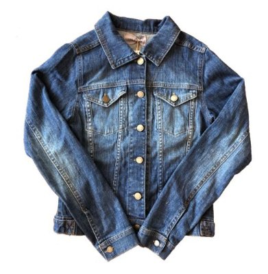 Jaqueta Jeans com Bordado nas Costas Como Quieres