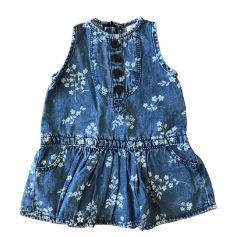 Vestido Jeans com Flores OshKosh