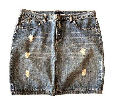 Saia Jeans Destroyed Corpo e Alma