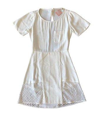 Vestido Branco com Decote nas Costas Cris Barros