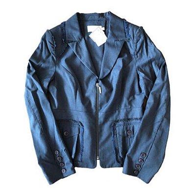 Blazer Azul com detalhes Cris Barros