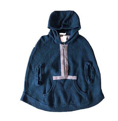 Blusão de Lã Preto com detalhe em Couro Marrom Cris Barros