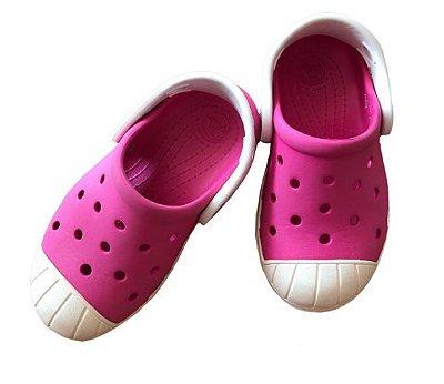 Crocs Rosa e Branco