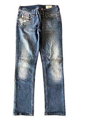 Calça Jeans Clara com Bordado Diesel