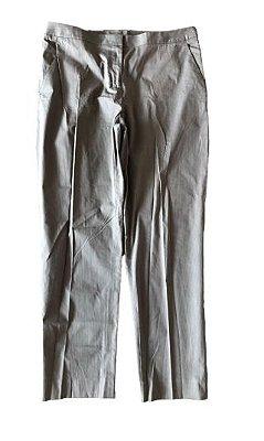 Calça Social Risca de Giz Marrom DKNY