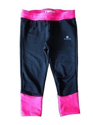Legging Preta e Pink Domyos