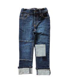 Calça Jeans Escura com Quadrado Claro OshKosh