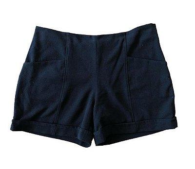 Shorts Preto Fucsia