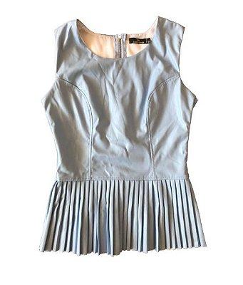 Blusa Azul Claro Courino Golden Dress