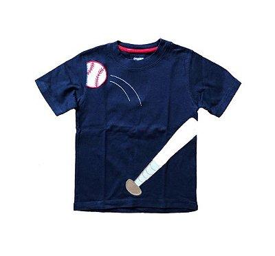 Blusa Azul Marinho Baseball Gymboree