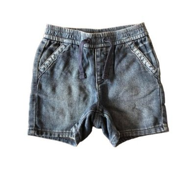 Shorts de Moletom imitando Jeans Gap Kids