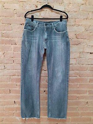 Calça Jeans Preta mais Gasta Calvin Klein