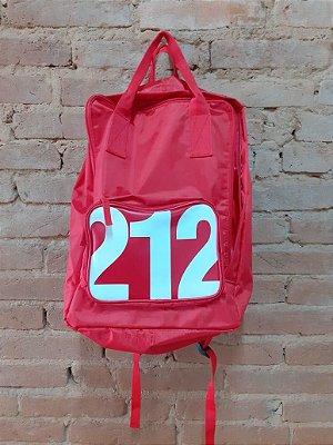 Mochila Vermelha e Branca 212 Carolina Herrera