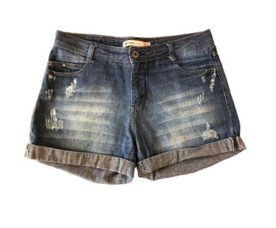 Shorts Jeans Claro Hering
