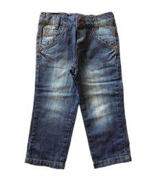 Calça Jeans com Etiqueta Pullga Babby