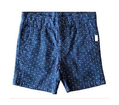 Shorts Azul Marinho e Branco Hering Kids