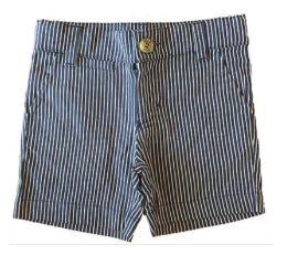 Shorts Listrado Azul e Branco Paola Bimbi