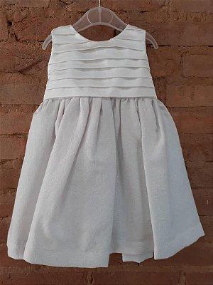 Vestido Branco Festa com Brilho Kopela