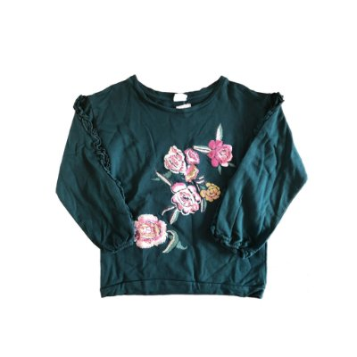 Blusa Manga Longa Bordada Zara Girls
