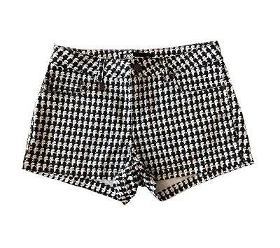 Shorts Preto e Branco Karl Lagerfeld para Riachuelo