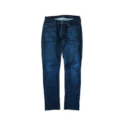 Calça Jeans Escura Reta Seven